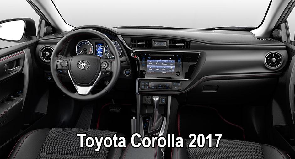 Toyota Corolla 2017 вид салона